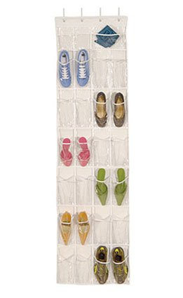 Charmant Over The Door Clear Shoe Organizer/Storage Rack