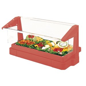 Cambro BBR480158 Tabletop Salad Bar with Cold pan 3-pan Size hot red ()