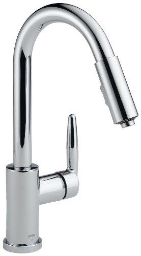 Delta Grail 985LF Single Handle Pull-Down Kitchen Faucet, Chrome