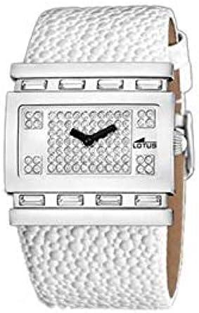 lotus montre femme bracelet cuir blanc