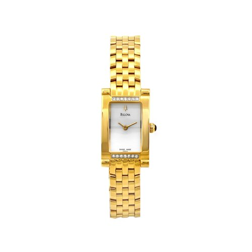 Bulova Women's 65R104 Goldtone Stainless Steel Mother-Of-Pearl Dial Watch