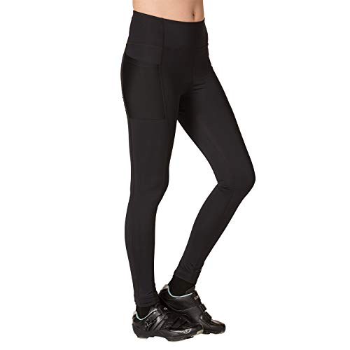 Terry Women's Holster Prima Cycling Tight - A Higher Compression, Full Length Option for Cooler Temperatures – Black – Large by Terry (Image #1)