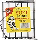 C&S Products Company Hanging Suet Basket - for Small Seed Cakes, Suet Cakes, mealworm pies