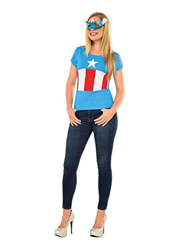 Rubie's Marvel Women's Universe American Dream Classic T Shirt, Multi, Large