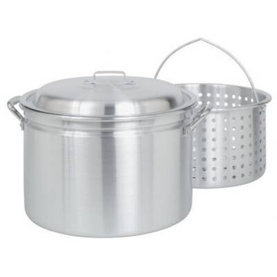 Bayou Classic 4024 Stockpot - 6 gal 13.75 Diameter Stockpot - Lid (Bayou Classic With Lid Steamer)
