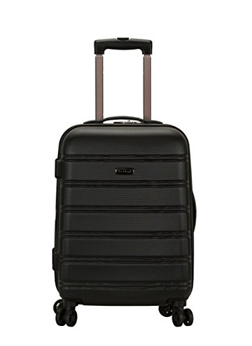 Rockland Luggage Melbourne 20 Inch Expandable Abs Carry On Luggage, Black, One...
