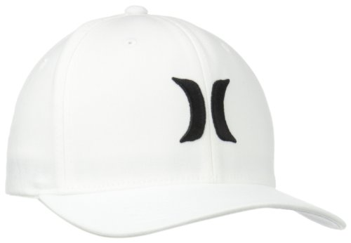 Hurley Men's One and Only Black White Hat, White/Black, Large/X-Large (White Hurley Hat)