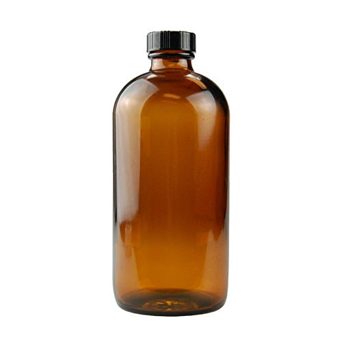 Large 16 Oz Empty Refillable Amber Glass Spray Bottle