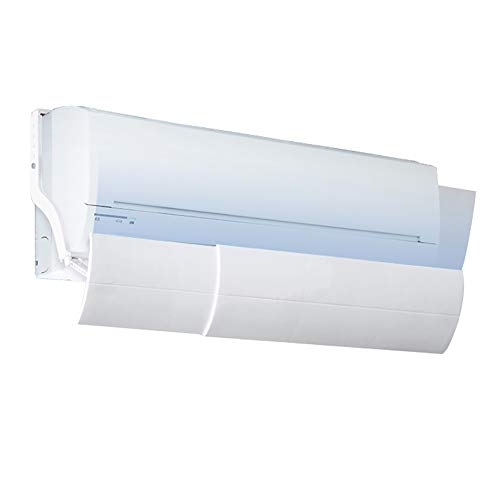 Suspended Air Conditioning Deflector, 5 Files Adjustable Shroud, Prevent Direct Blowing Windshield, Balance Room Temperature ()