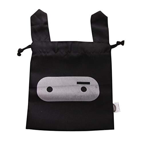 Creazy Travel Bag, Rabbit Makeup Lunch Travel Storage Bag Pouch Pen Pencil Pocket Cosmetic Case (Black)