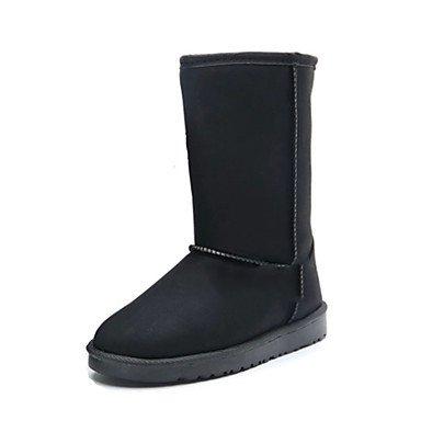 Negro Us6 Moda Botas Tacón Invierno Toe Nieve Zapatos Forro Ronda De Botas Botas Comfort Mid Cuero RTRY Plano De Novedad De Mujer UK6 Otoño CN39 EU39 Pelusas 5 US8 Cn37 5 Calf Nubuck 5 Botas Uk4 De De De Ue37 7 aUfxxCwq1