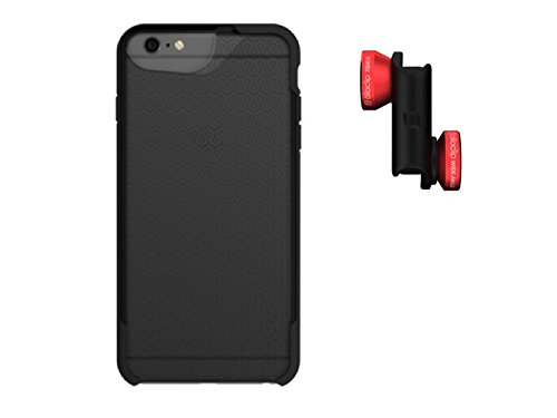 cheap for discount 36691 58187 olloclip 4-IN-1 LENS + CASE COMBO - iPhone 6/6S Lens: Red/Black, CASE:  MATTE SMOKE/BLACK
