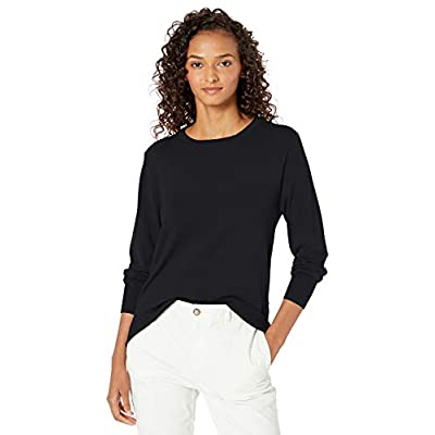 Brand - Daily Ritual Women's Fine Gauge Stretch Crewneck Pullover Sweater: Clothing
