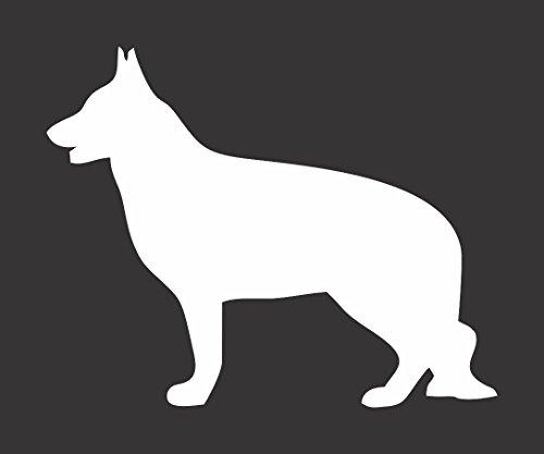 Barking Sand Designs German Shepard Dog Silhouette - Die Cut Vinyl Window Decal/Sticker for Car/Truck