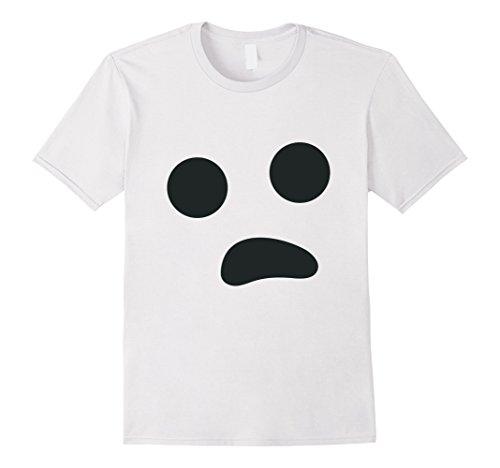 Inexpensive Last Minute Halloween Costumes (Mens Last Minute Halloween Costume Shirt Ghost Face 2XL White)