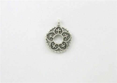 (Sterling Silver Christian Fish Wheel Charm - Jewelry Accessories Key Chain Bracelet Necklace Pendants)
