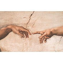 Michelangelo Creation of Adam Art Print Poster