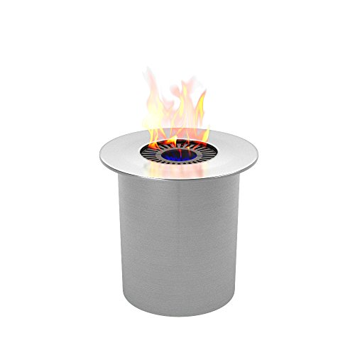 Regal Flame PRO Ethanol Circular Cup Burner Insert For Easy Conversion from Gel Fuel Cans, Gel Fireplace Fuel, Gel Fire Cans ()