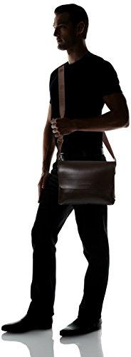 sulandy @ da uomo in pelle borsa a tracolla in pelle sintetica e valigetta per nuovo brown