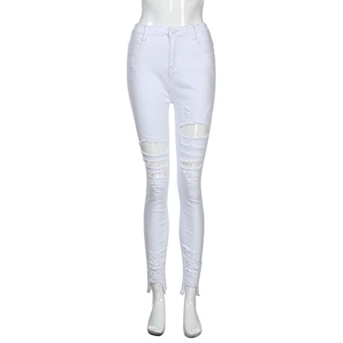 Skinny Elasticizzato Ashop Jeans Jeans Vita In A Donna Bianco Alta Denim Pantaloni xSY0wqYd