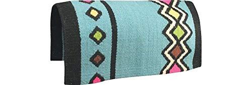ABETTA Navajo Saddle Blanket 36 x 34 Sky Blue