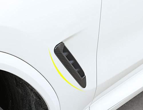Duoles Hood Side Shark Gill Simulation Air Flow Vent Fender Sticker for Car