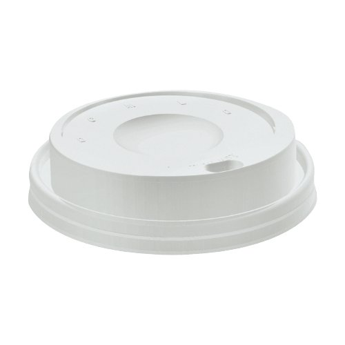 Dart 16EL White Cappuccino Plastic Lid for Hot And Cold Foam Cup 100-Pack (Case of 10)
