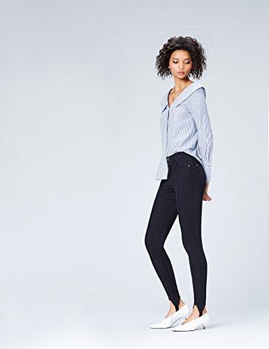 FIND Leggings Damen mit Jeggings-Design und Fußschlaufe Blau DQcCq