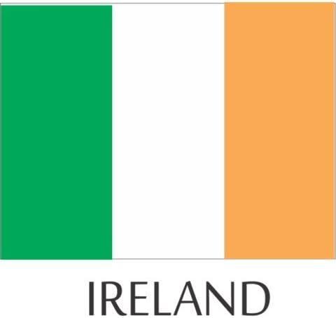 Ireland Flag Hard Hat Helmet Decals Stickers