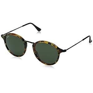 Ray-Ban Acetate Man Sunglasses - Spotted Black Havana Frame Green Lenses 49mm Non-Polarized