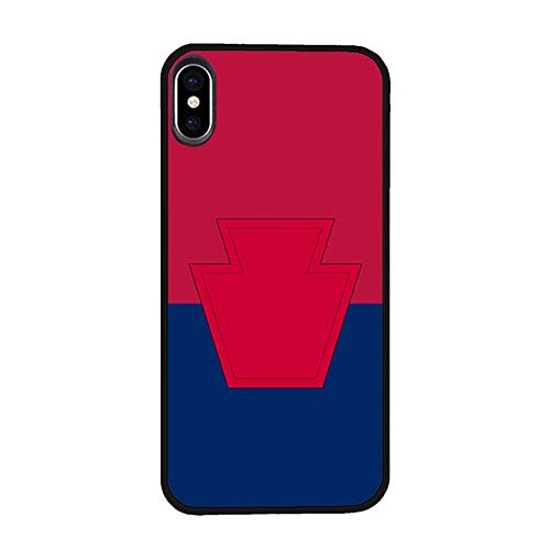 Skinsends U. S. Army - Iron Division Phone Cover Compatible with iPhone X, 28th Infantry Division Hard Plastic Protective Cases Compatible with iPhone -