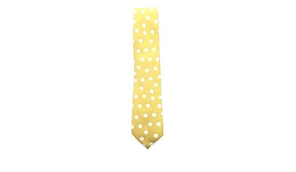 Francisco Pavón Corbata de fondo amarillo con lunares grandes en ...
