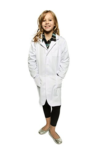 Kids Lab Coat by Working Class - Durable Lab Coats for Kid Scientists or Doctors, Ages 6-8, White