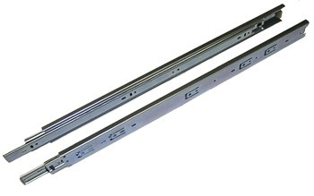 Drawer Slide, Full Extension, 28 in., Zinc, 100 lb. Capacity, Medium Duty by Hawthorne & Reid