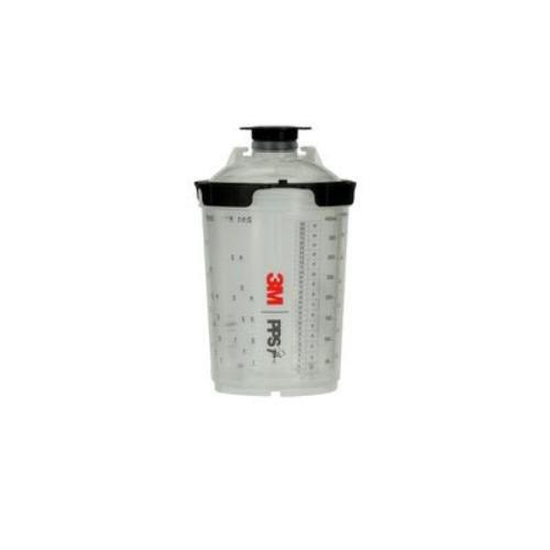 3M 1 kit/cs, PPS Series 2.0 Spray Cup System Kit, Midi (13.5 fl oz, 400 mL), 200u Micron Filter (2PS-26112)