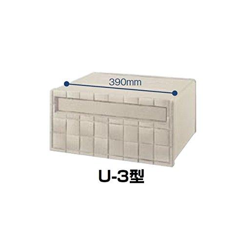 リクシル TOEX エクスポスト 箱型タイプ U-3型(1Bボックスタイプ) 『リクシル』 『郵便ポスト』  シャイングレー B00B3PQ4YW 14774  本体カラー:シャイングレー