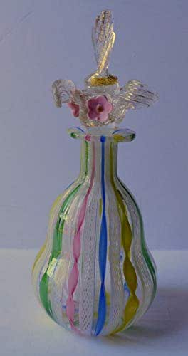 1930's Antique Venitian Murano Glass Perfume Bottle