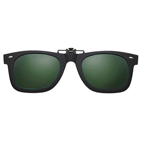 Clip sol gafas deportes lente Flip aire libre Up on de al de Verde Oscuro Huicai polarizadas para UH41Sxw1