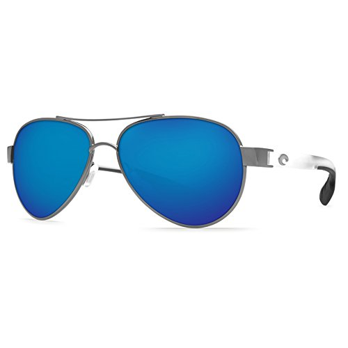 Costa Del Mar LR74OBMP Loreto Sunglass, Gunmetal with Crystal Temples Blue - Promotion Sunglasses