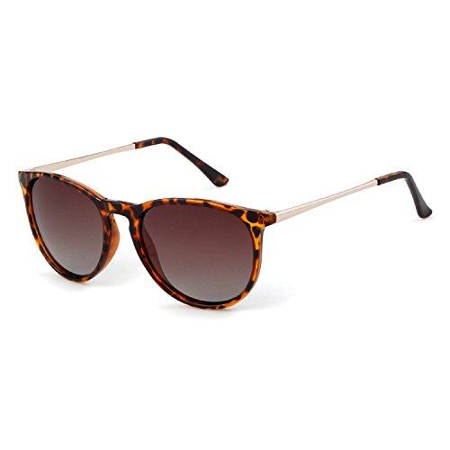 Turtle unisexe frame UV400 polarisées de protection de en conduite la lunettes Lunettes ADEWU soleil Brown pour Wayfarer vélo lens 8SqCcTw