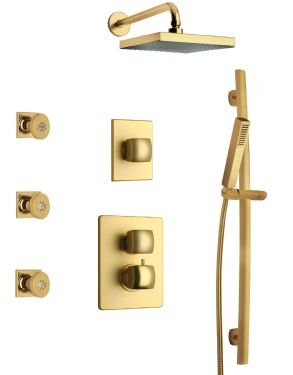 LaToscana LA-OPTION7OK Lady Thermostatic Valve with 3/4'' Ceramic Disc Volume Control, Matt Gold by La Toscana