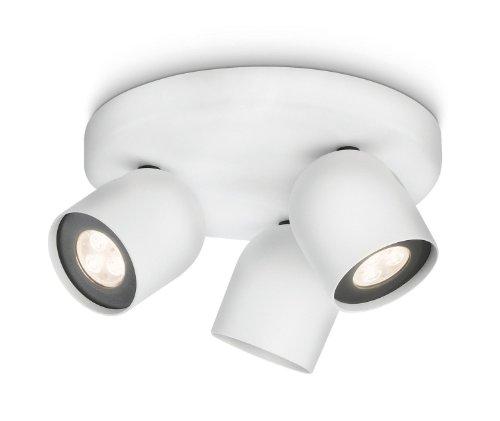 Philips Ledino led-plafondspot Zesta 3-vlammen dimbaar 6 W, wit 564933116