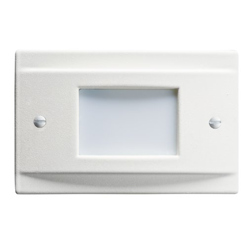 Kichler Lighting 12665WH Lensed Face Vertical/Horizontal LED Non-Dimmable Steplight, White Finish with Frosted Lens
