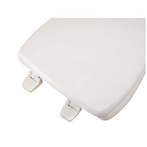 Bath Décor 1F1E9-00 Deluxe Wood Elongated Square Front Toilet Seat with Adjustable Hinge, White 30%OFF