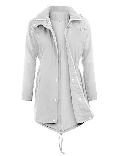 3e8499dbf43 Uniboutique Raincoats Waterproof Lightweight Rain Jacket Active Outdoor  Hooded Women s Trench Coats