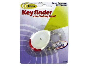 Sonic sound key chain finder with flashing light - Pack of 96