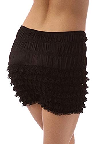 Malco Modes Womens Sexy Ruffle Panties Tanga Dance Bloomers Sissy Booty Shorts (Black, SM) ()