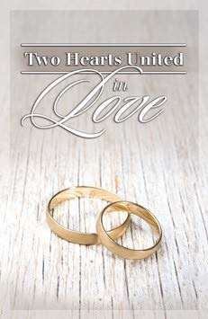 Two Hearts United in Love - Standard Bulletin 11 - Wedding - (Pack of 100)]()