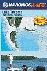 Lake Texoma Texas High Definition Fishing Map