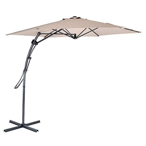 MYAL Offset Patio Umbrella Outdoor